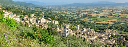 of assisi: Assisi (Umbria) high definition panorama