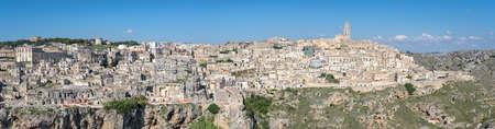 extra large: Matera (Basilicata Italy) extra large panorama collage Stock Photo