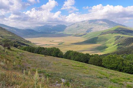 Beautiful plateau near Castelluccio di Norcia (Umbria)