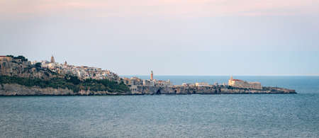 definition high: Vieste high definition scenic view with the sea (Puglia, Italy) Stock Photo
