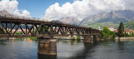 Lecco railway bridge on River Adda