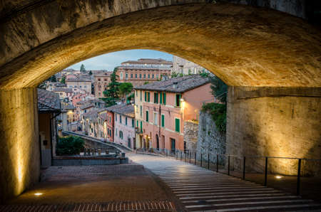 Perugia Via Appia Stock Photo