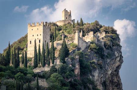 pictoresque: Castello di Arco (Arco Castle) in Trentino Italy Stock Photo