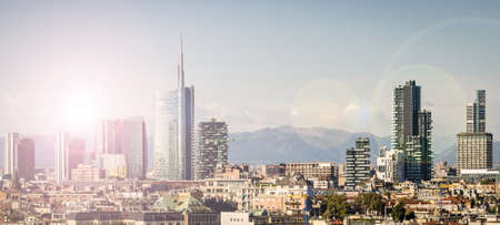 Milano (Italy), skyline with new skyscrapers Stock Photo