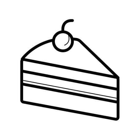 Cake icon. Flat vector illustration in black on white background. EPS 10 Illustration