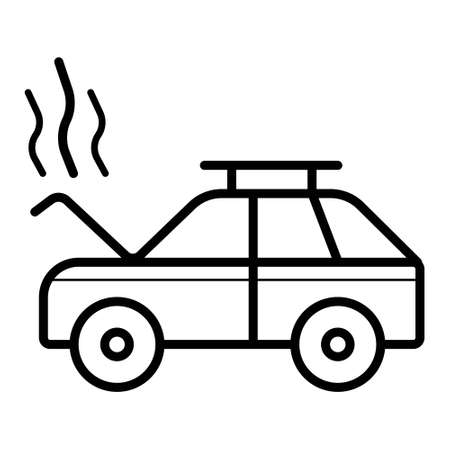 crash, smoke, open hood,auto service, car repair