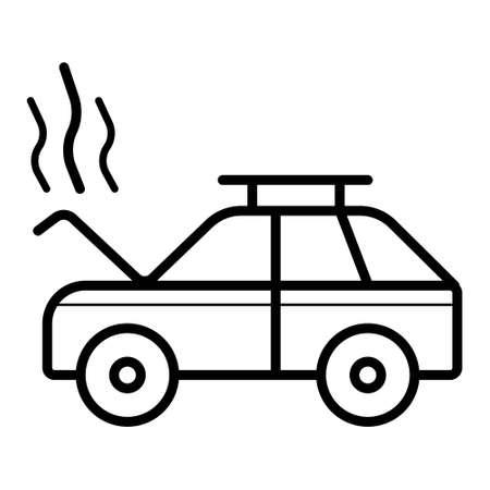 crash, smoke, open hood,auto service, car repair