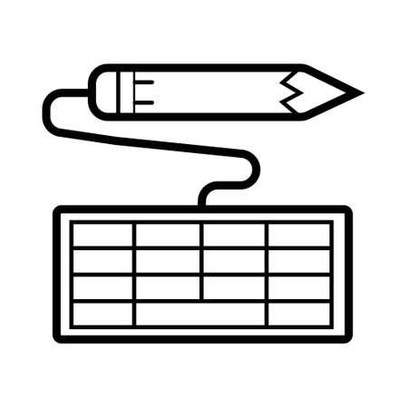 Vector computer keyboard icon
