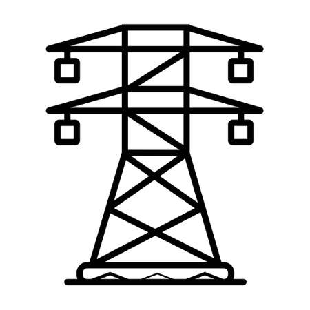 electric tower isolated icon