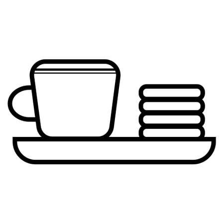 Donut lindo y taza de té