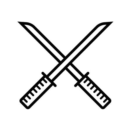 Chinese sword icon Vettoriali