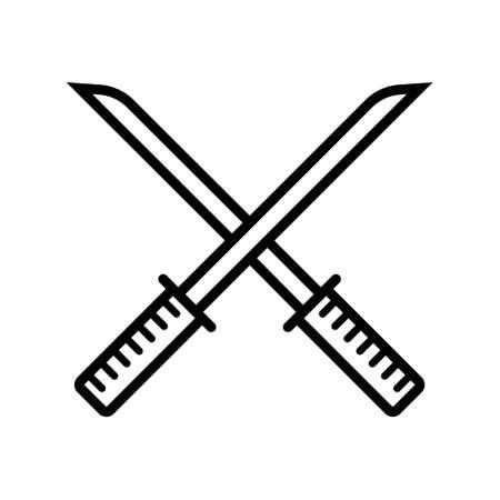 Chinese sword icon Illustration
