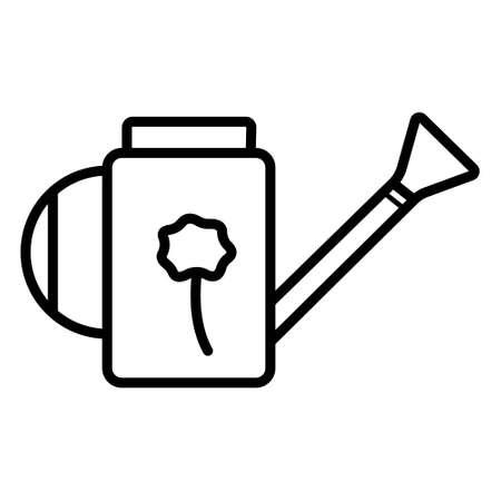 Watering thin icon vector garden Illustration