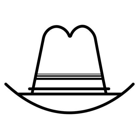Cowboy hat icon vector  Illustration