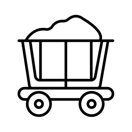 miner carts vector icon isolated on white background