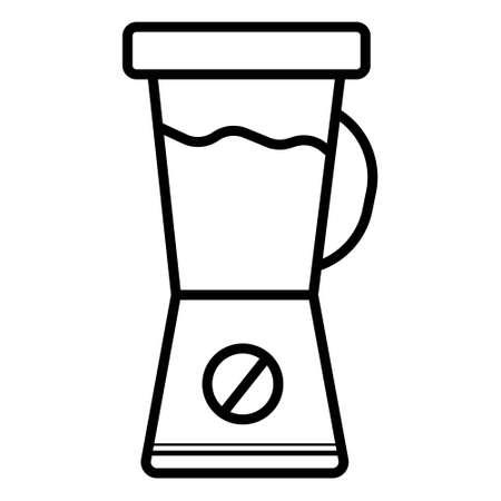 Icono de licuadora de línea delgada. Ilustración de vector aislado sobre fondo blanco. Pictograma de contorno simple de licuadora.