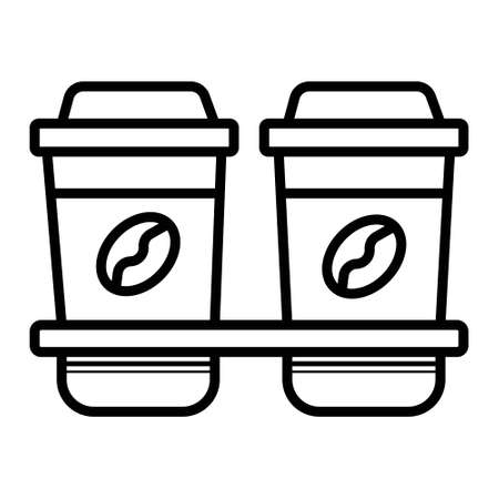 Disposable coffee cups icon Фото со стока - 121829050