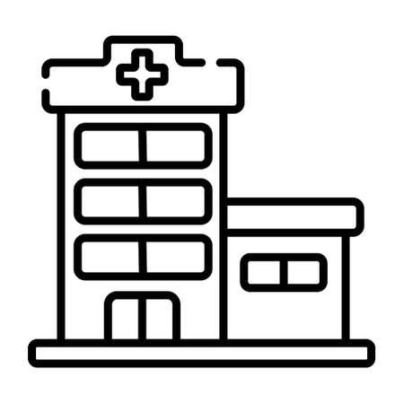 Hospital icon vector Illustration