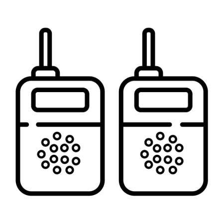 Two way radio, walkie talkie icon Vector Illustration