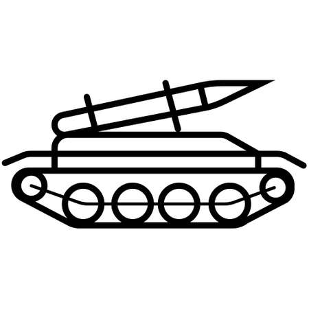 Rocket missile tank icon in trendy flat style isolated on white background. Symbol for your web site design, logo, app, UI. Vector illustration, EPS