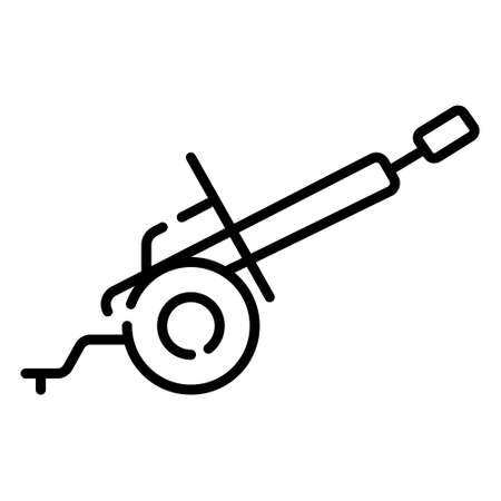 Cannon Silhouette (barrel up and straight ahead) 向量圖像