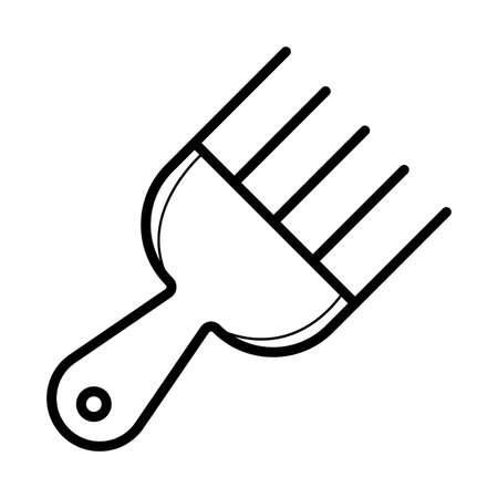 Afro Comb vector Vettoriali