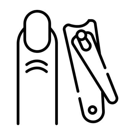 Nail filing icon Illustration
