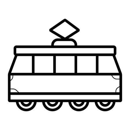 Tram icon vector  イラスト・ベクター素材