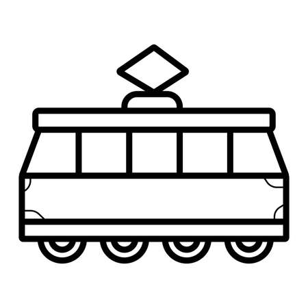 Tram icon vector Ilustrace