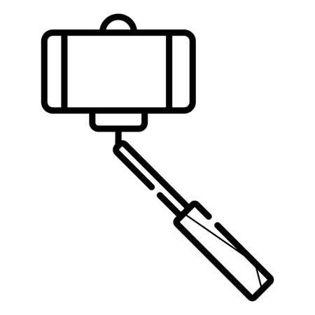 Selfie stick icon.  イラスト・ベクター素材