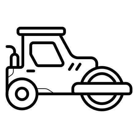 Asphalt paver icon Illustration
