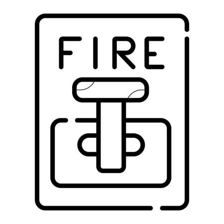 Fire alarm system Illustration