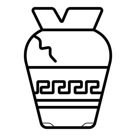 Line icon broken vase