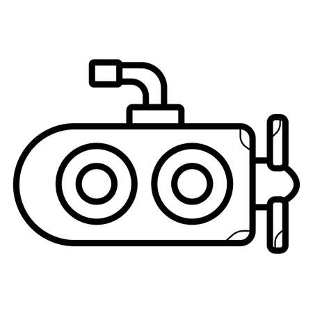 Simple icon submarine. Illustration