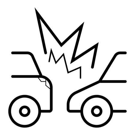 Car Crash icon Vetores