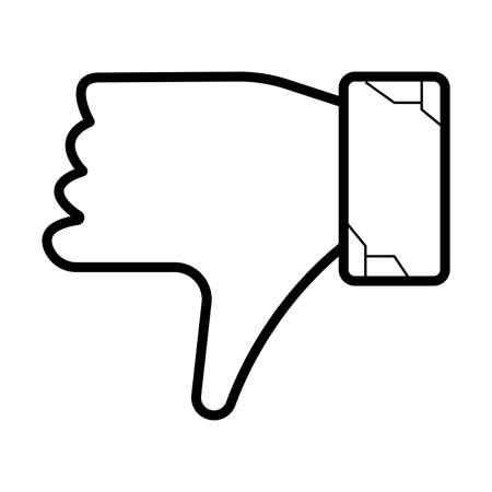 down hand icon  Illustration