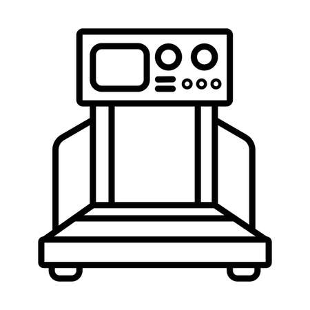 Treadmill icon .Sport and fitness symbol stock vector illustration
