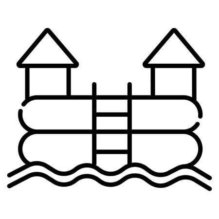 Cartoon bouncy castle icon