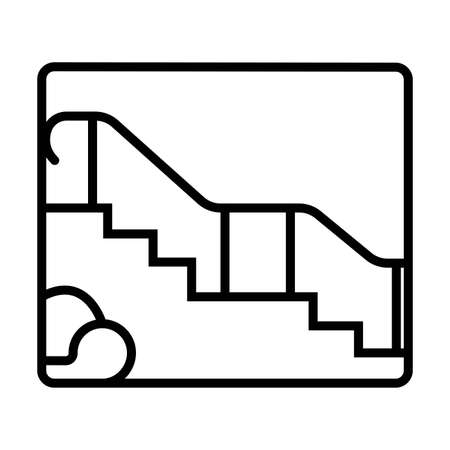 Staircase vector icon 일러스트