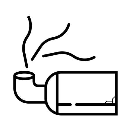 Car exhaust pipe icon 矢量图像