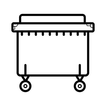 dumpster vector icon