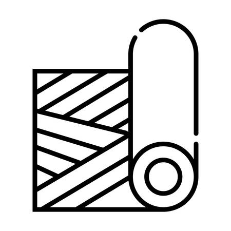 Carpet roll, vector icon Illustration
