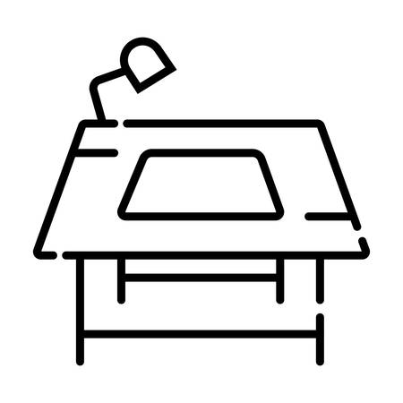 Worker make silkcreen printing icon