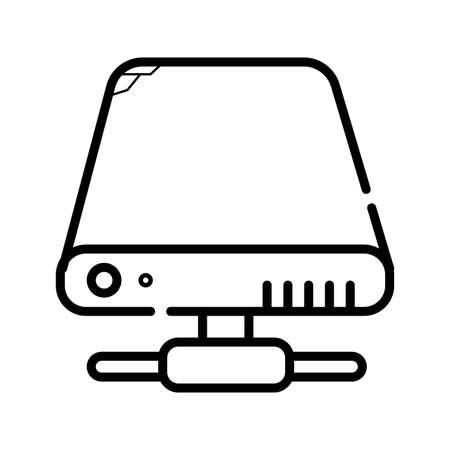 HDD icon vector Ilustração