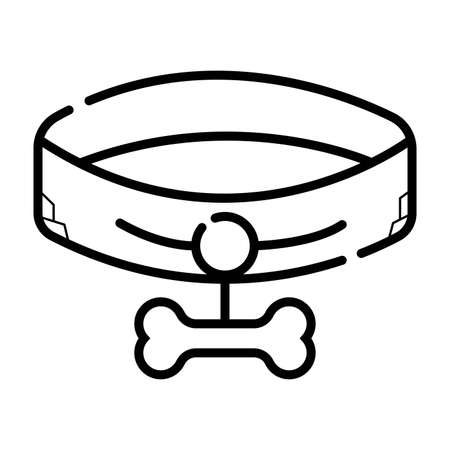 Dog collar icon Illustration