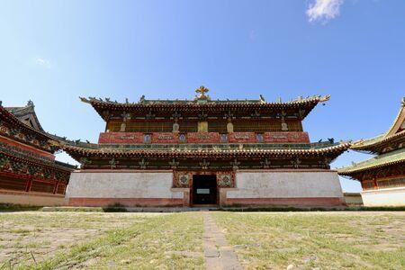 Main temple of Erdene Zuu monastry in Central Mongolia