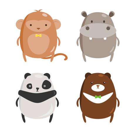 zoo animals: Chubby Zoo Animals Set