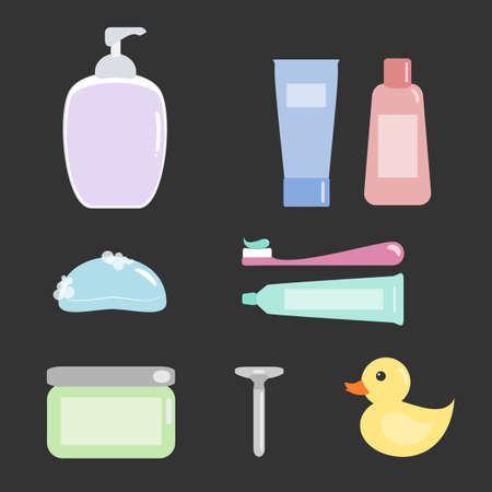 Bath Amenities Set Vector