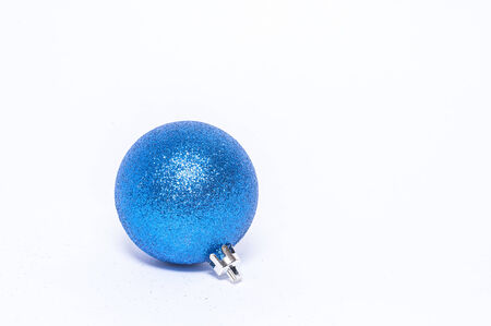 cool blue Christmas decoration on white background Stock Photo