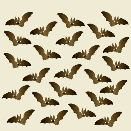 picture postcards: picture of a bat on a grey background, happy Halloween Illustration